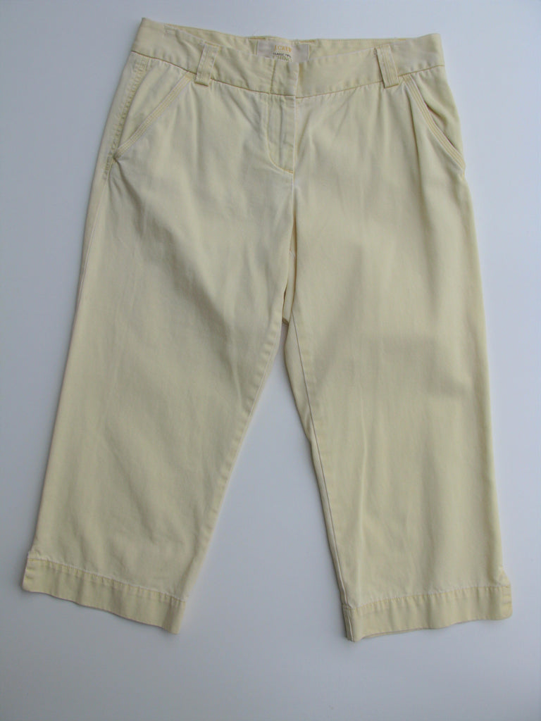 J Crew Classic Twill Chino Favorite Fit Weathered & Broken-in Crops 6