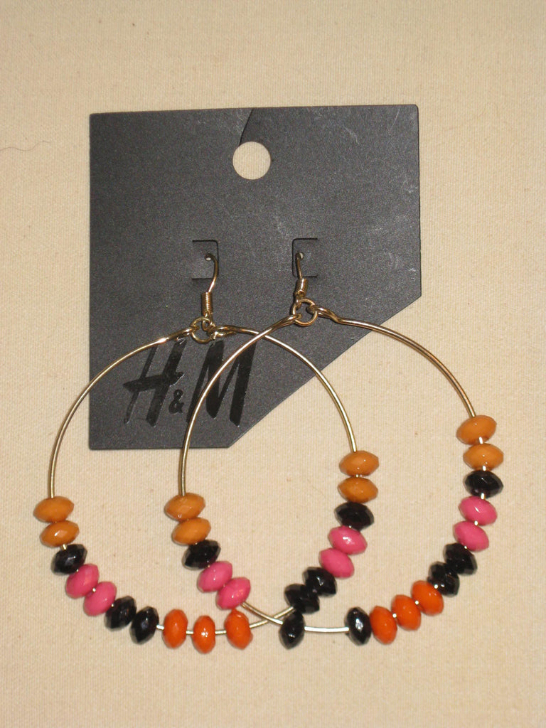 Beaded Hoop Earrings - ruby & sofia