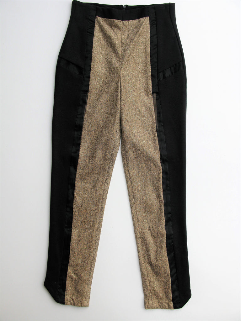 THEA By Thara Slim Shimmery Tuxedo Pants S NWOT