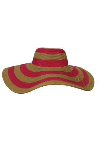 Magid Paper Straw Wide Brim Stripe Floppy Hat