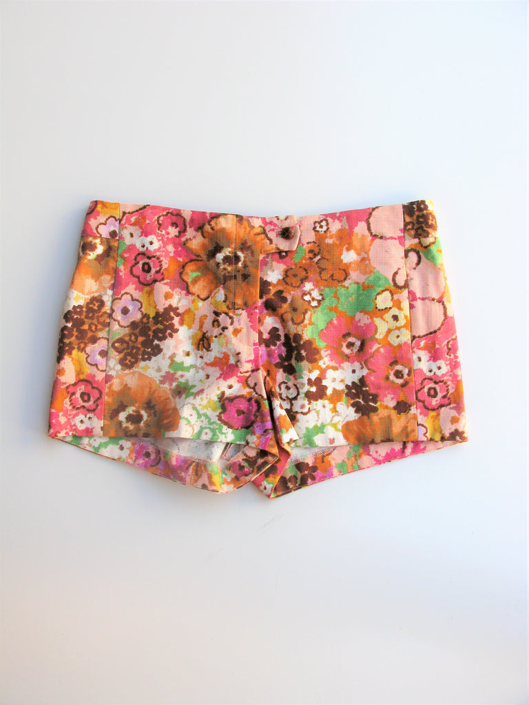 J Crew Watercolor Floral Print Shorts 8 NWOT