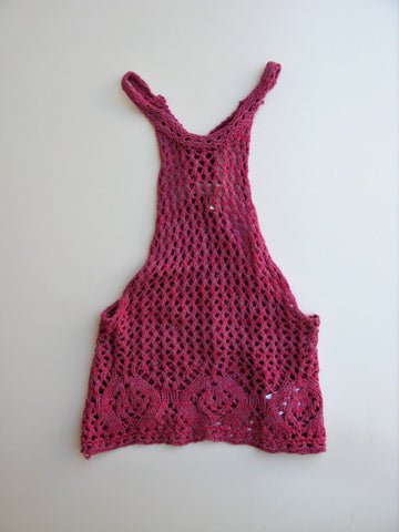 Urban Outfitter Staring at Stars Open-Crochet Tank Top XS NWOT