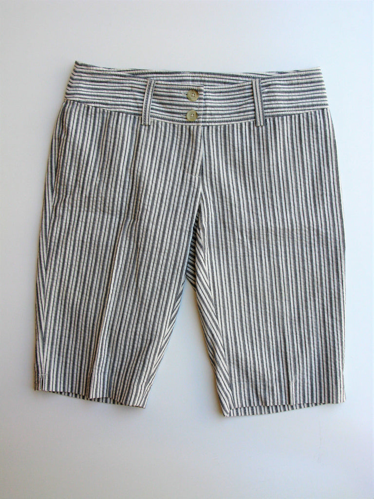 MICHAEL Michael Kors Grey Seersucker Striped Bermuda Shorts 2