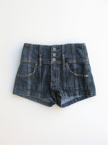 Abercrombie & Fitch 'The High Rise' Stretch Denim Shorts 26