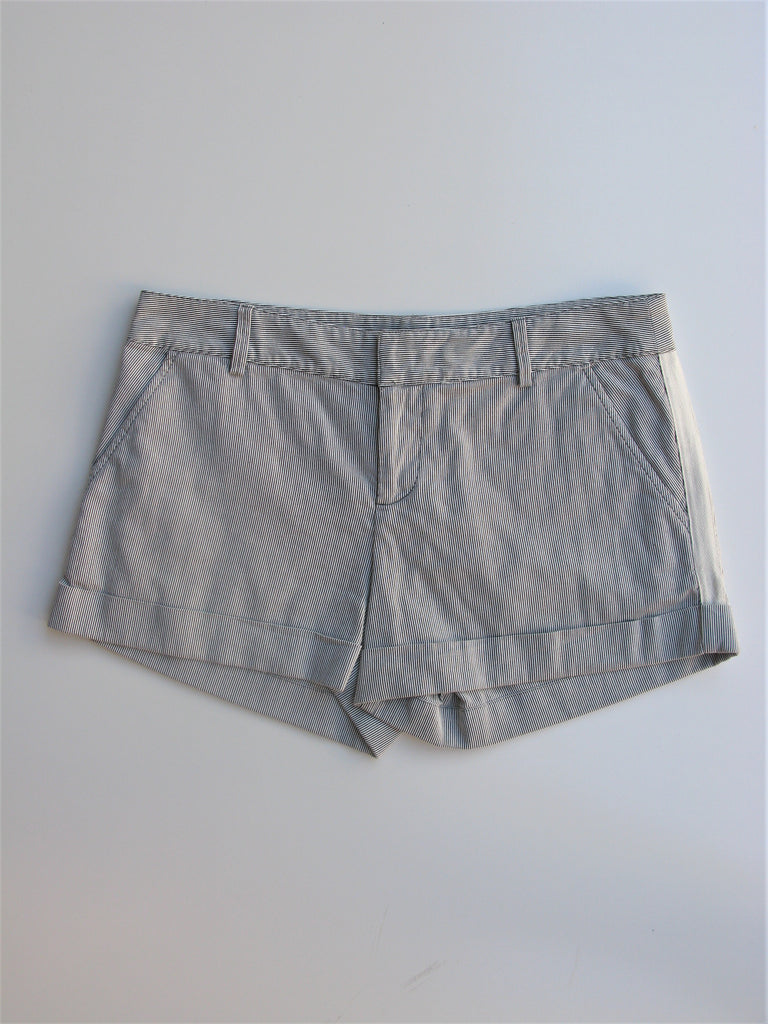 Joie Micro Striped Cuffed Seersucker Shorts 2