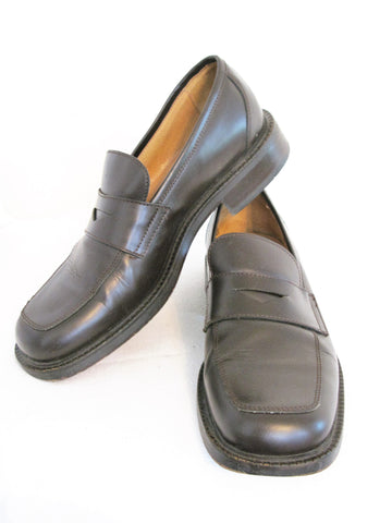 Kenneth Cole New York Italian Made Square Toe Penny Loafers 8