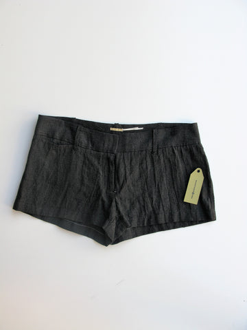 Max Studio Black Linen Shorts 8 NWT