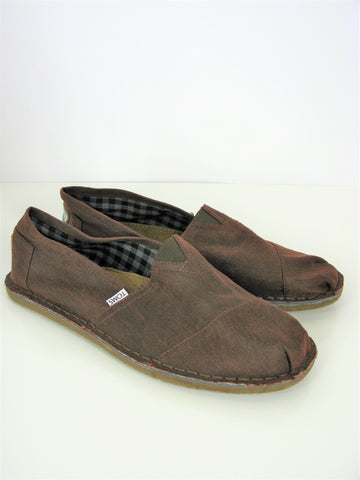 Toms Mens Slip on Brushed Canvas Shoes 11.5 NWOB