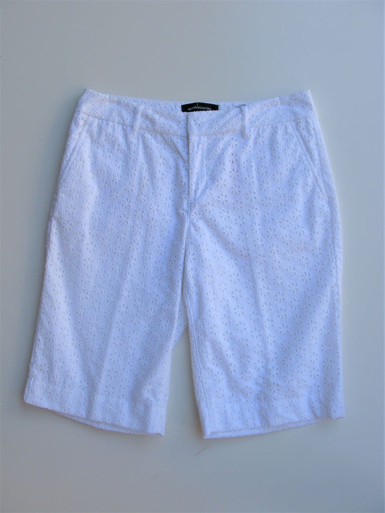 Moda International Eyelet Bermuda Shorts 4 NWOT