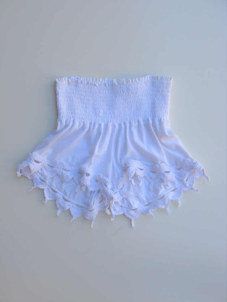 Nightcap Crochet & Smocked Cabaret Shorts XS NWT