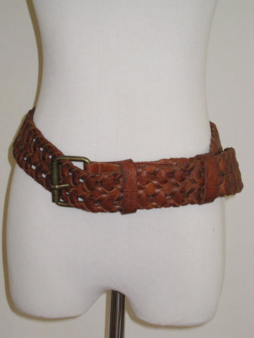 "Soussan Designs 2"" Leather Woven Belt M/L"