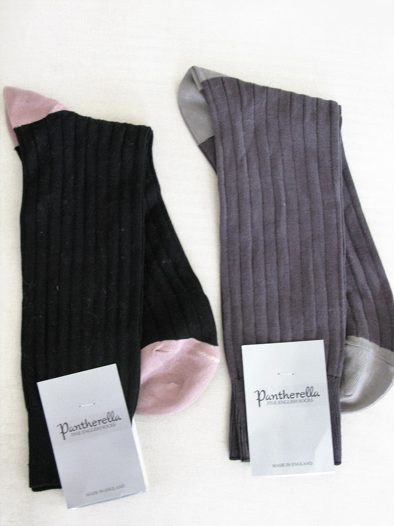 Pantherella Ribbed Cotton Lisle Socks M/L NWT - ruby & sofia
