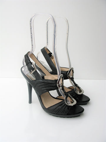 Platform Sandal Spike Heel Sandal Caged Sandal Leather Michael Kors Heels 7