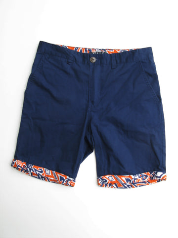 21 Men Printed Cuffs Navy Bermuda Shorts 29 NWOT