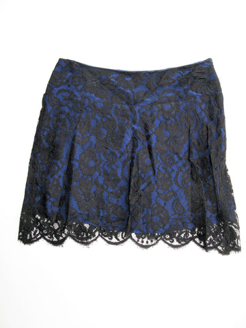 Charles Henry A-Line Lace & Silk Mini Skirt 2 NWT