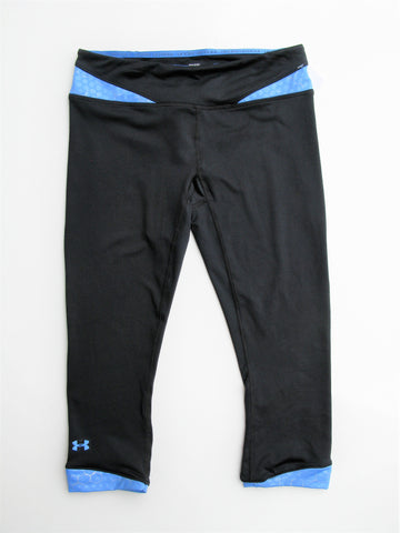Under Armour Heat Gear Fitted Capri Workout Yoga Leggings SM/P/P  NWT