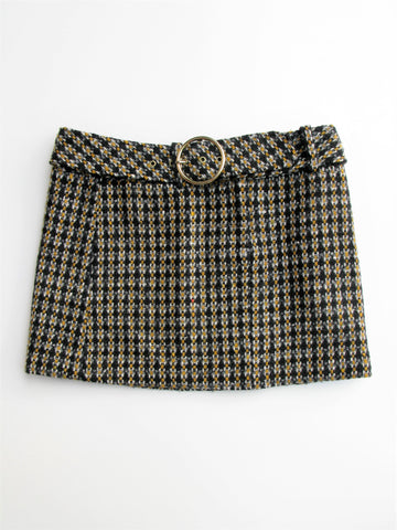 Milly of New York 60's Style Wool Tweed Mini Skirt 6