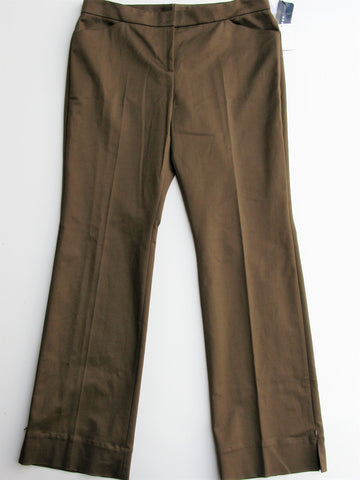 AKRIS 'Meryl' Side Zip Cotton Stretch Trousers 14 NWT