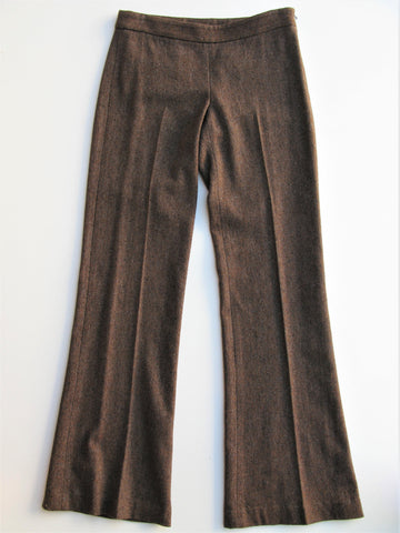 Theory 'Tensley - Donegal Bay' Wool & Silk Wide Leg Trouser Pants 2
