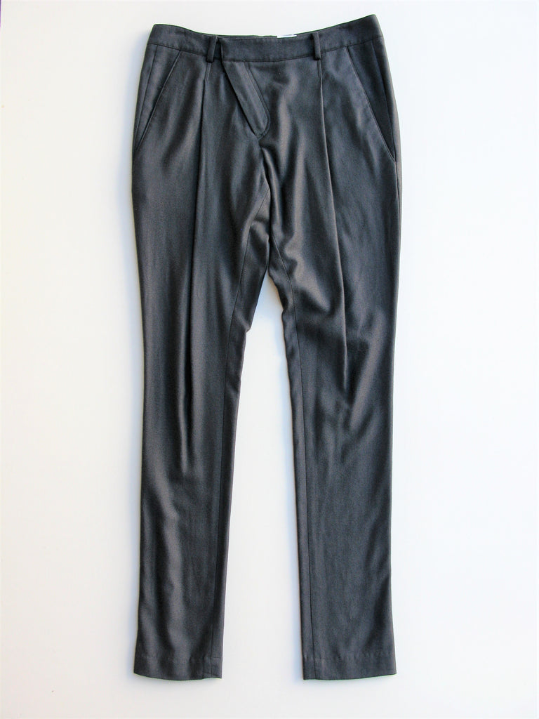 Helmut Lang Asymmetrical-Front Tapered Leg Pants 0