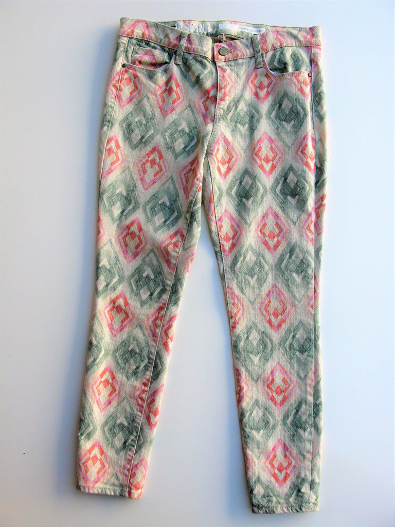 DKNY Jeans Aztec Crop Jeggings 4 NWOT