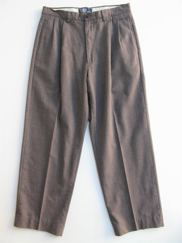 Polo by Ralph Lauren Herringbone Pleated Trousers 32 x 28