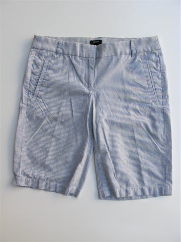 J Crew City Fit Seersucker Striped Bermuda Walking Shorts 4
