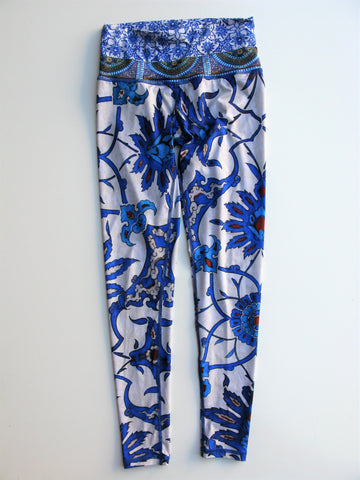 Arteshbod Abstract Floral Printed Hot Yoga Workout Leggings XS