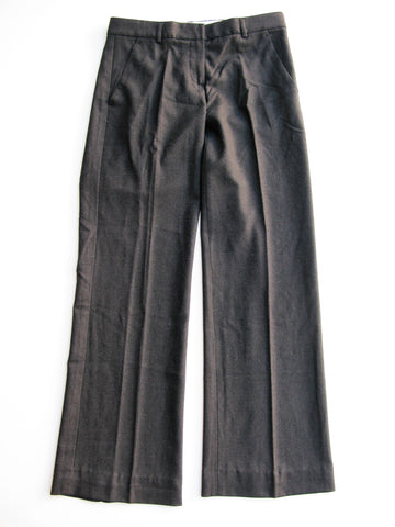 Theory Charcoal Grey Stretch Wool Trousers 2