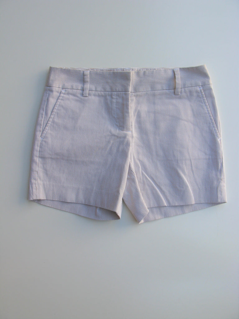 "J Crew City Fit Seersucker Striped 5"" Shorts 0"