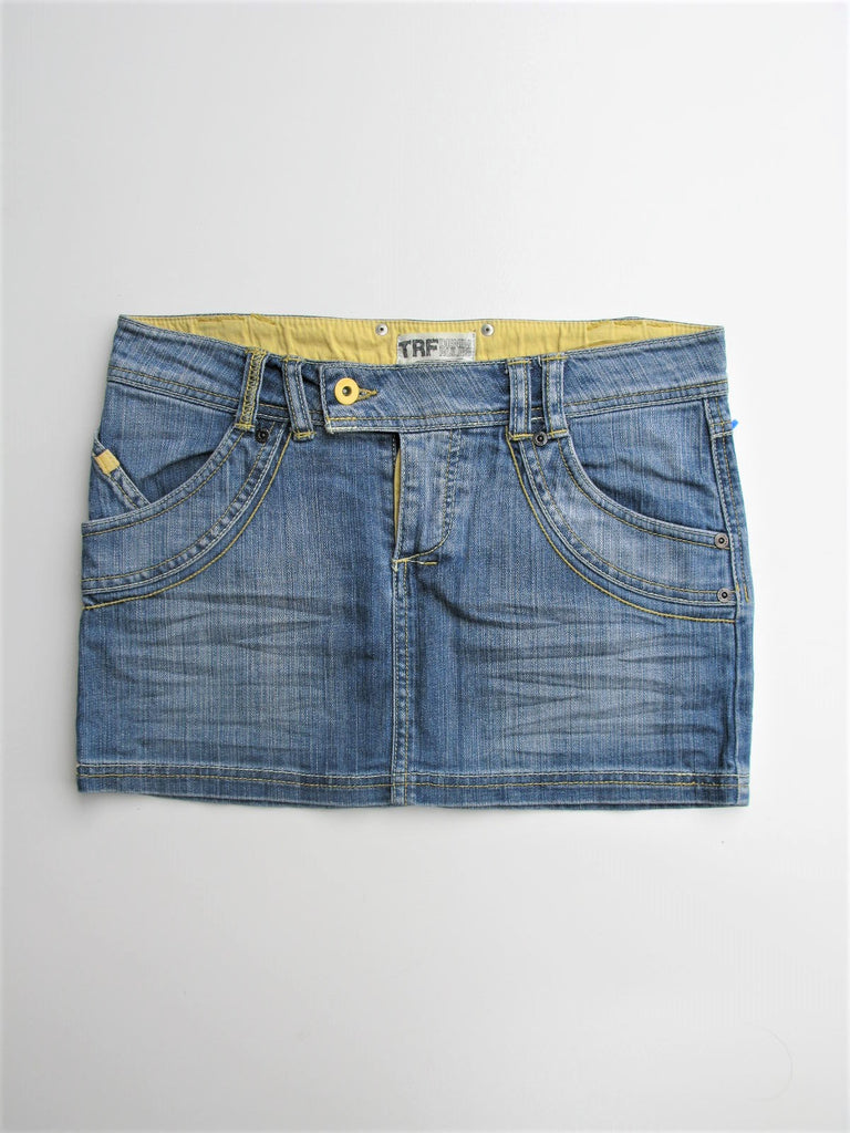 Jean Mini Skirt Button Fly Mini Skirt ZARA TRF Denim Rules Mini Skirt 2 NWOT