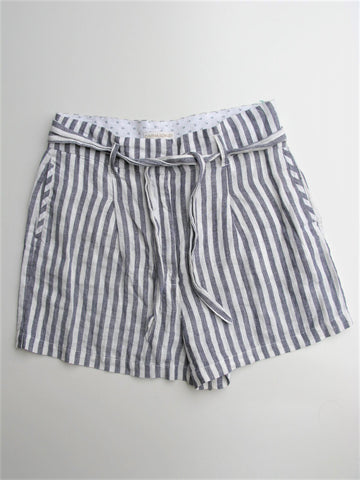 Linen Shorts High Rise Bermuda Pleated CYNTHIA ROWLEY Hamptons Walking Shorts 12