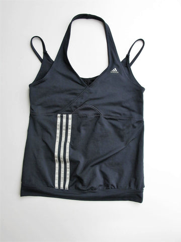 Yoga Top Workout  Halter Tank Top ADIDAS Clima365 Halter Shelf Bra Top