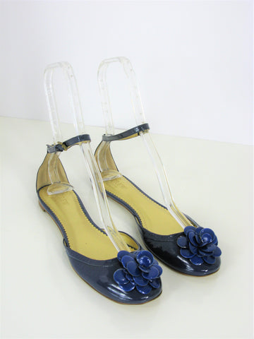 J Crew Made in Italy Ankle Strap Posey Patent Leather d'Orsay Flats 8.5 NWOB