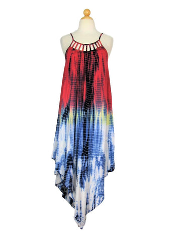 Maxi Dress HiLo Tie Dye Boho Jersey RAGA Hippie Chic Dress XS