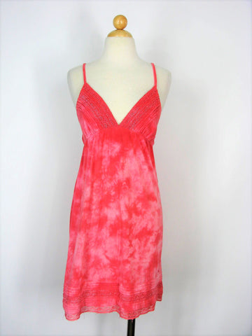 Sundress Summer Dress BILLABONG Spaghetti Strap Empire Waist Sundress M/L
