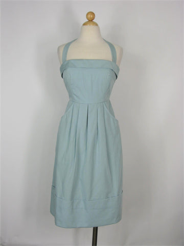 Retro Halter Dress Anthropologie BHLDN Vox Populi Hitherto Dress 0/2