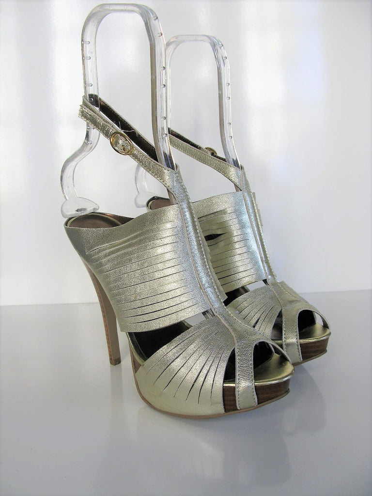 N.Y.L.A Banded Caged Platform Stiletto Sandals 7