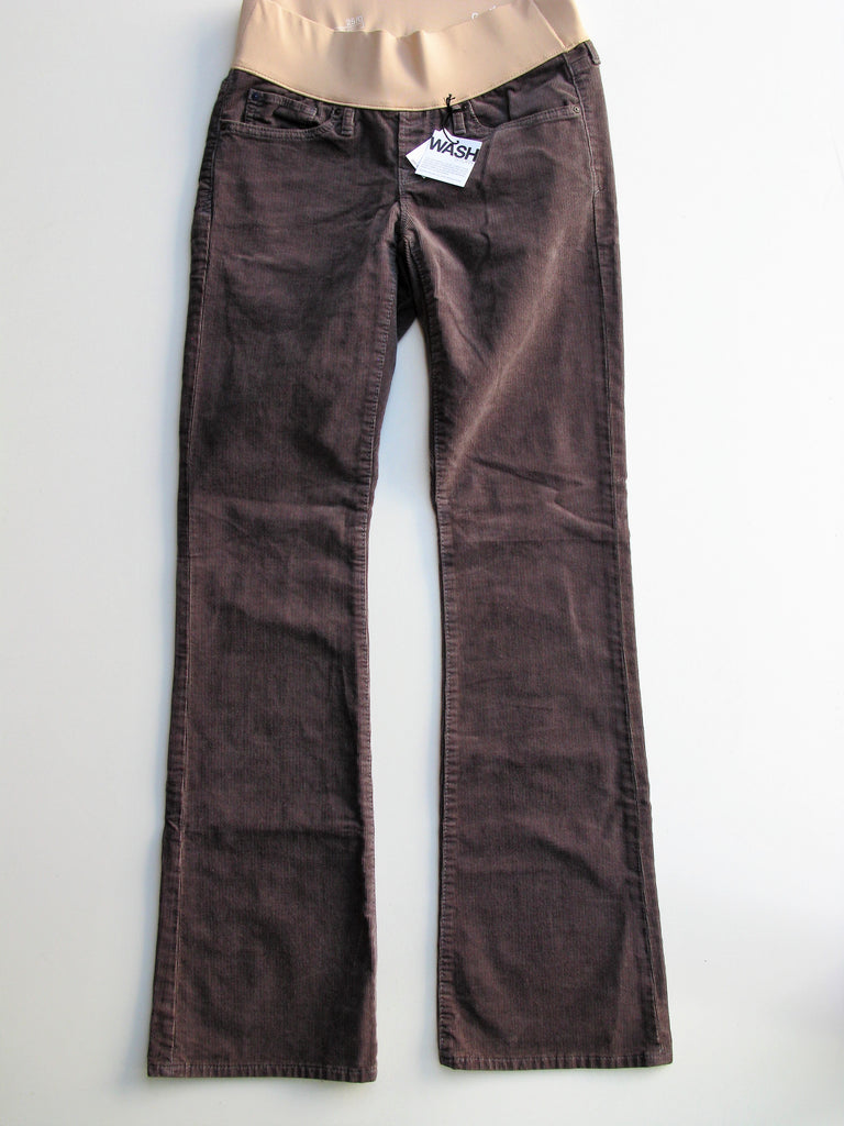 Gap 1969 Sexy Boot Demi Panel Corduroy Maternity Pants 25/0 NWT