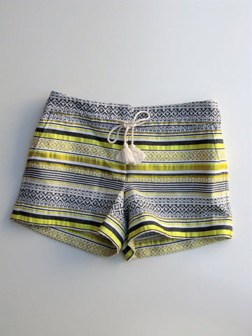 "Ann Taylor LOFT Woven Striped 4"" 'The Riviera Short' 4"