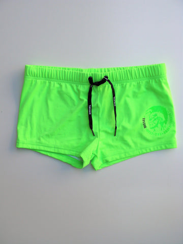 Diesel Men's Lime Green Aloha Swim Briefs Shorts M NWOT
