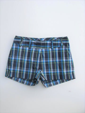 "Short Shorts Lija Plaid Short 2"" Golf Shorts 0"