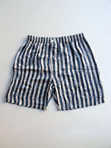 Calida of Switzerland Silk Striped Sleep Shorts L