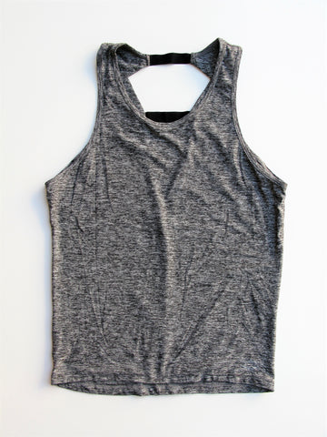 Beyond Yoga Space Dye Grey Inner Light-Weight Tank S/M