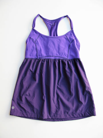 Athleta Retreat Yoga Workout Tank - Morning Glory Purple S