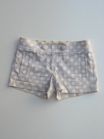 J Crew City Fit Cotton Canvas Polka Dot Shorts 2
