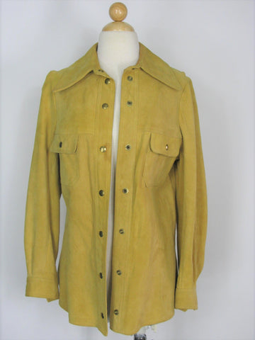 Jane Justin Don Sophisticates Vintage Suede Shirt Jacket