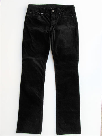 J Crew Favorite Fit Black Stretch Corduroy Pants 29T