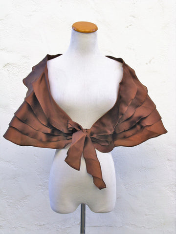 ILANA WOLF Tiered Silk Organza Shoulder Wrap - Rare!