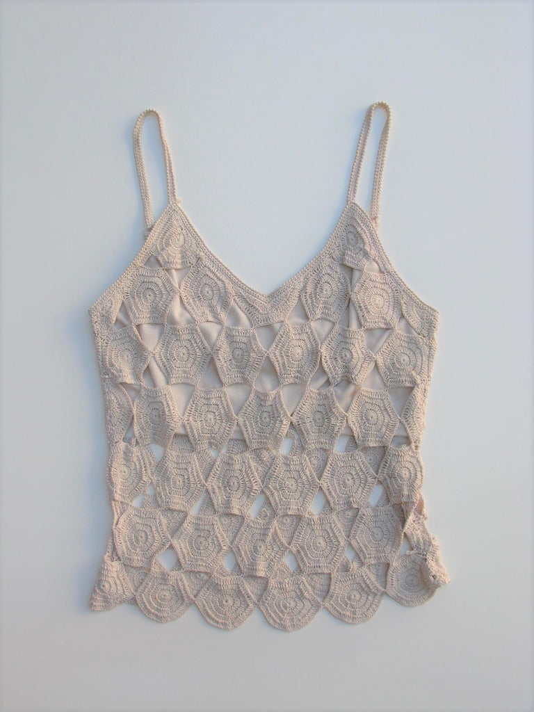 Boho Chic Crochet Peek-a-Boo Tank Top Network Clothing London S/M